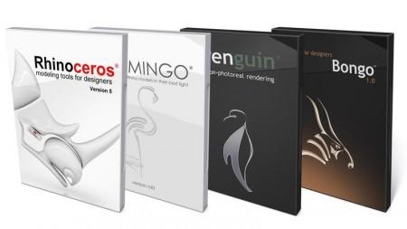 Paquete Rhino Flamingo Penguin Bongo Monopuesto (estudiante)